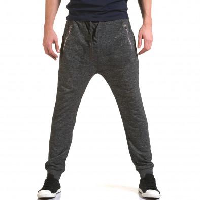 Ανδρικό γκρι παντελόνι jogger Dress&GO it090216-36 2