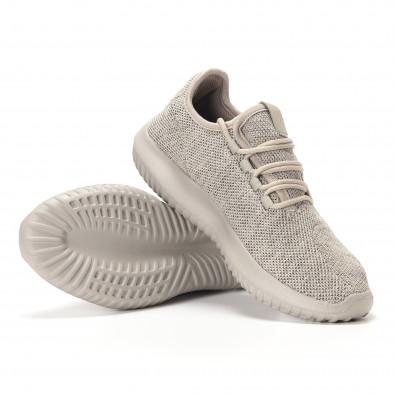 Ανδρικά γκρι αθλητικά παπούτσια Kiss GoGo it250118-8 4