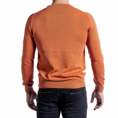 Ανδρικό πορτοκαλί πουλόβερ Code Casual tr231220-3 3