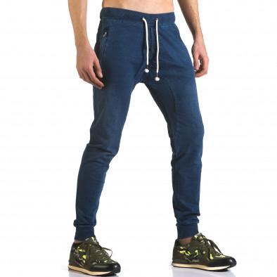 Ανδρικό γαλάζιο παντελόνι jogger Enos it090216-56 4