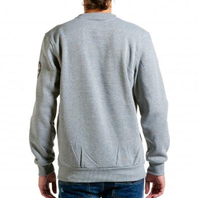 Ανδρική γκρι μπλούζα Aosen hn240815-54 3