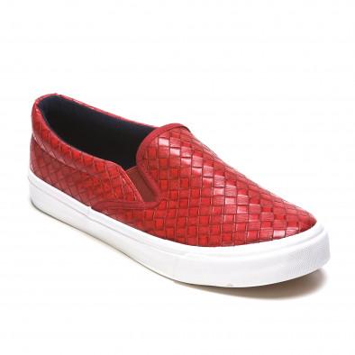 Ανδρικά κόκκινα sneakers Niweile It050216-8 3