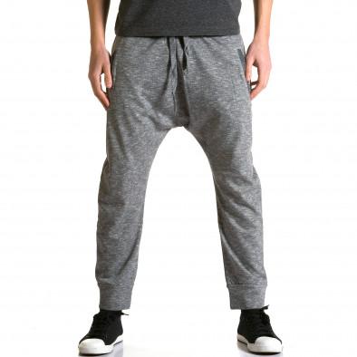 Ανδρικό γκρι παντελόνι jogger Max & Jenny ca190116-22 2
