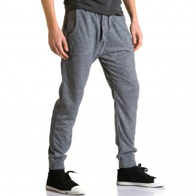 Ανδρικό γκρι παντελόνι jogger Dress & GO ca190116-28 4