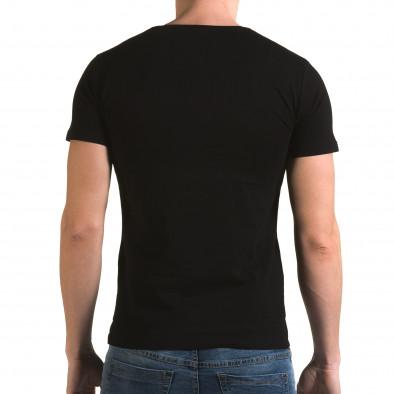 Ανδρική μαύρη κοντομάνικη μπλούζα Lagos il120216-25 3
