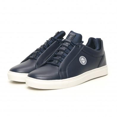 Ανδρικά μπλέ sneakers με logo it051219-7 3