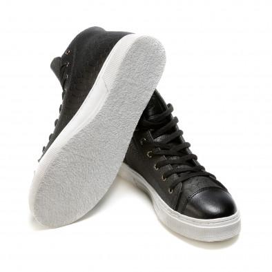 Ανδρικά μαύρα sneakers Niadi it100915-5 4
