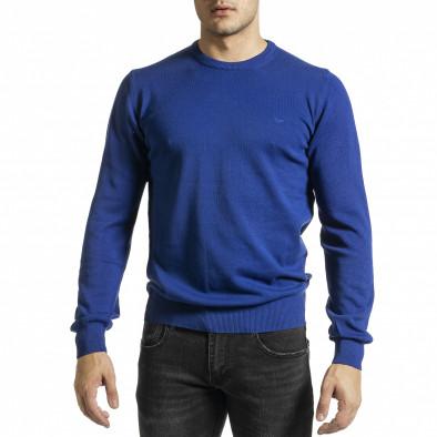 Ανδρικό γαλάζιο πουλόβερ Code Casual tr231220-1 2