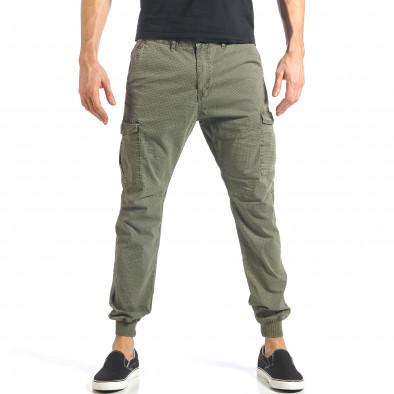Ανδρικό πράσινο παντελόνι XZX-Star it290118-26 2
