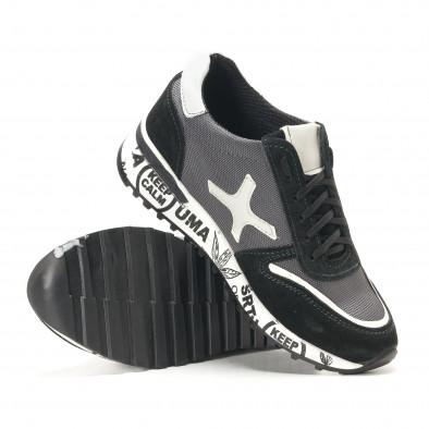Ανδρικά μαύρα αθλητικά παπούτσια BKS it291117-21 4