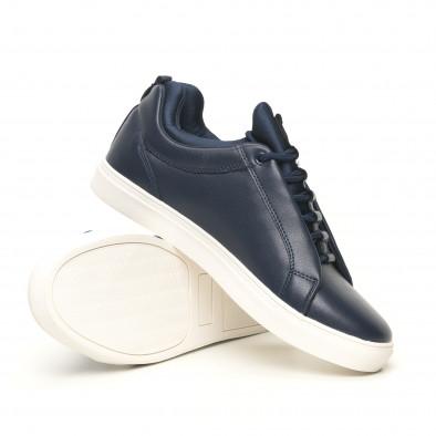 Ανδρικά μπλέ sneakers με logo it051219-7 4