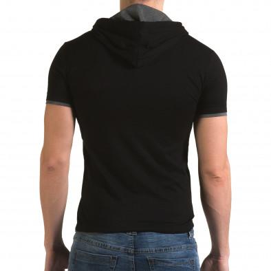 Ανδρική μαύρη κοντομάνικη μπλούζα Lagos il120216-60 3