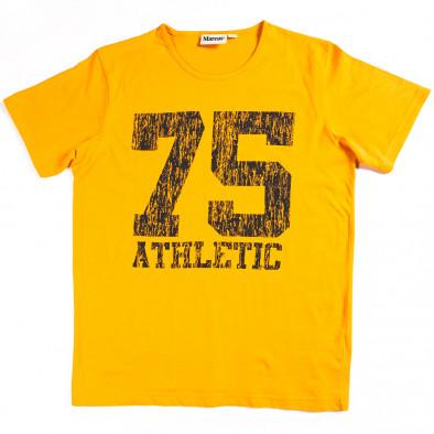 Ανδρική κίτρινη κοντομάνικη μπλούζα Marcus 070213-5 2