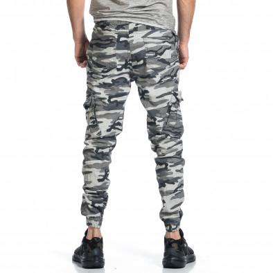 Ανδρικό γκρι καμουφλαζ παντελόνι cargo tr270421-4 3