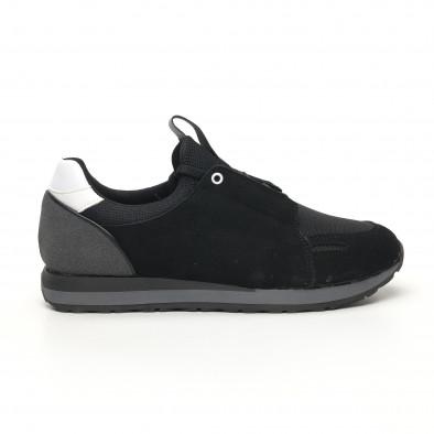 Ανδρικά μαύρα αθλητικά παπούτσια FM tr180320-31 3