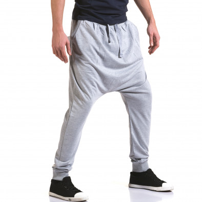 Ανδρικό γκρι παντελόνι jogger Dress&GO it090216-34 4