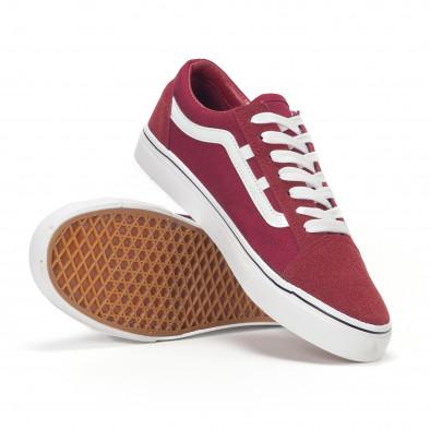 Ανδρικά κόκκινα υφασμάτινα sneakers Old Skool it160318-28 4