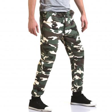 Ανδρικό πράσινο παντελόνι jogger Maximal it090216-59 4