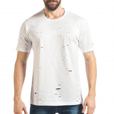 Ανδρική λευκή κοντομάνικη μπλούζα Black Island tsf020218-30 2
