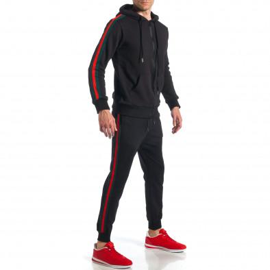 60d134aa3c63 Ανδρική μαύρη αθλητική φόρμα με κόκκινες και πράσινες ρίγες it110418-17 2  ...