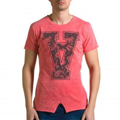 Ανδρική κόκκινη κοντομάνικη μπλούζα Adrexx ca190116-47 2