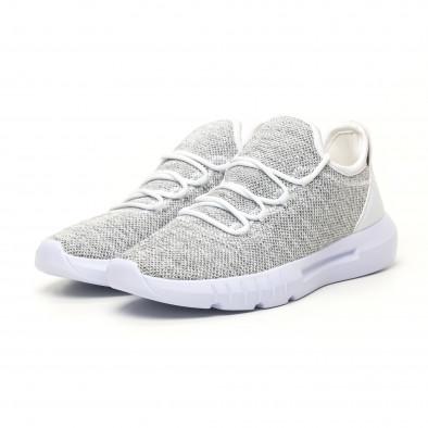Ανδρικά λευκά μελάνζ αθλητικά παπούτσια ελαφρύ μοντέλο it041119-3 2