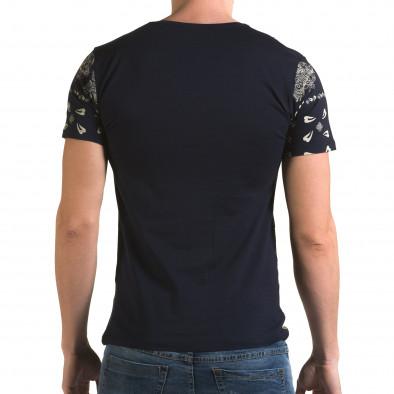 Ανδρική γαλάζια κοντομάνικη μπλούζα Lagos il120216-55 3