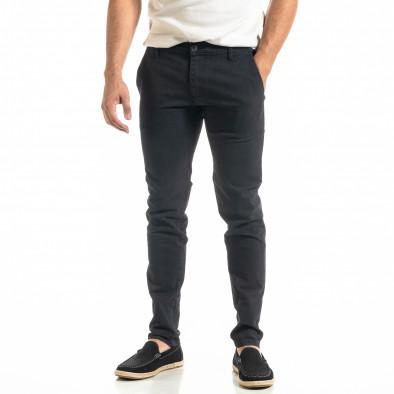 Ανδρικό μπλε παντελόνι Slim fit Chino it020920-19 2