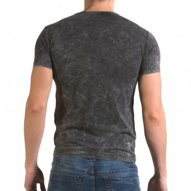 Ανδρική γκρι κοντομάνικη μπλούζα Lagos il120216-16 3