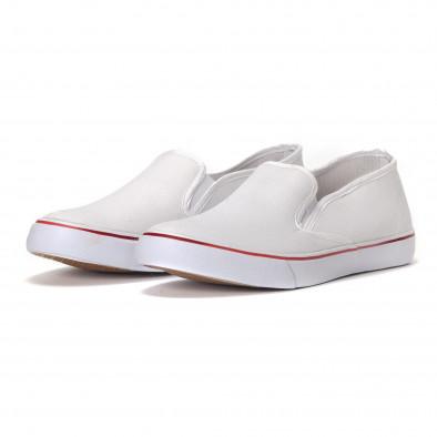 Ανδρικά λευκά sneakers slip-on  it240418-8 3