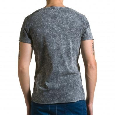 Ανδρική γκρι κοντομάνικη μπλούζα Adrexx ca190116-48 3