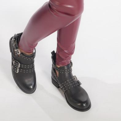 Γυναικεία μαύρα μποτάκια Diamantique it240118-4 3