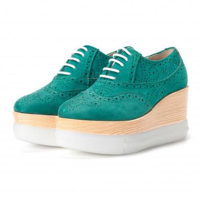 ... Γυναικεία πράσινα παπουτσια με πλατφορμα VeraBlum it240118-58 4 ... 27559003a54