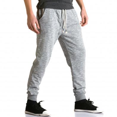 Ανδρικό γκρι παντελόνι jogger Enos ca190116-31 4