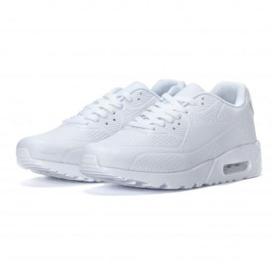 Ανδρικά λευκά αθλητικά παπούτσια με σόλες αέρα it240418-26 3