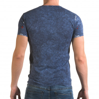 Ανδρική γαλάζια κοντομάνικη μπλούζα Lagos il120216-30 3
