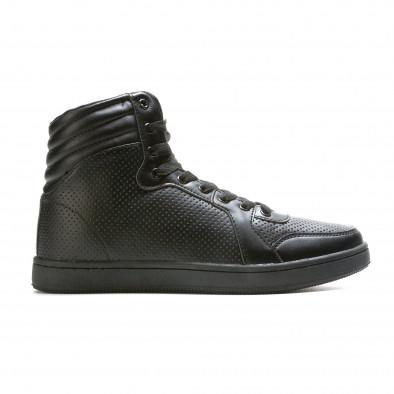 Ανδρικά μαύρα sneakers Niadi it211015-1 2