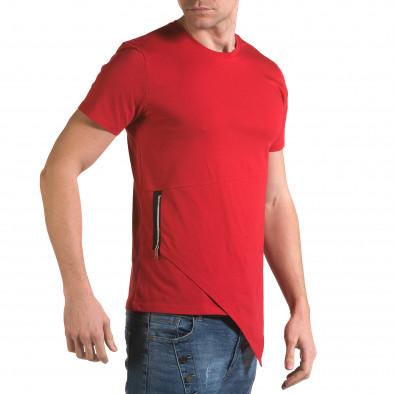 Ανδρική κόκκινη κοντομάνικη μπλούζα Man it090216-68 4