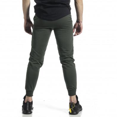 Ανδρική πράσινη φόρμα βαμβάκι Basic it270221-20 3