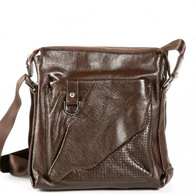 Ανδρικό καφέ τσαντες Fashionmix 9077-1-brown 2