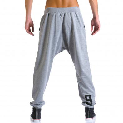 Ανδρικό γκρι παντελόνι jogger Eadae Wear ca260815-29 3