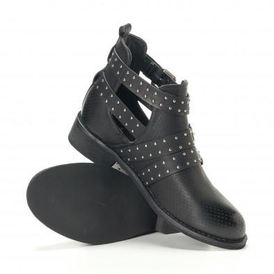 Γυναικεία μαύρα μποτάκια Diamantique it240118-4 5