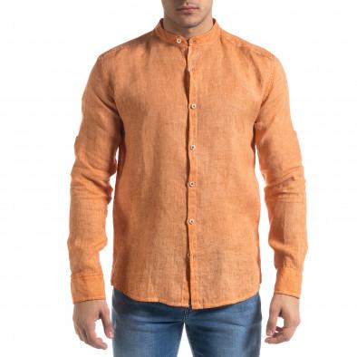 Ανδρικό πορτοκαλί πουκάμισο RNT23 tr110320-91 3