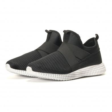 Ανδρικά μαύρα αθλητικά παπούτσια Naban it110517-2 2
