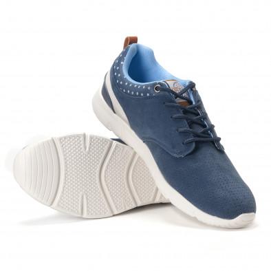 Ανδρικά γαλάζια αθλητικά παπούτσια Montefiori it250118-22 4