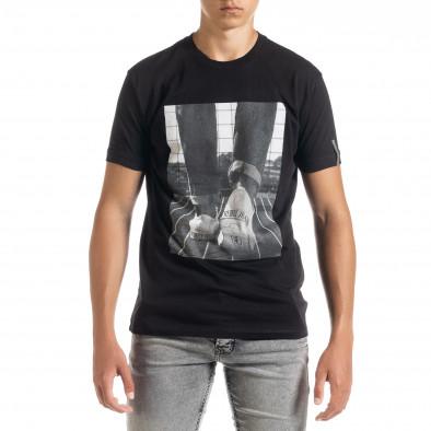 Ανδρική μαύρη κοντομάνικη μπλούζα Freefly tr010720-32 2