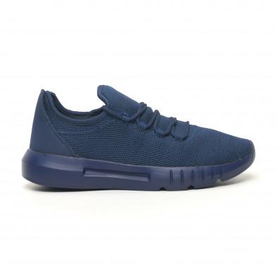 Ανδρικά μπλε μελάνζ αθλητικά παπούτσια ελαφρύ μοντέλο it041119-2 3