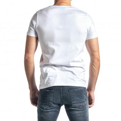 Ανδρική λευκή κοντομάνικη μπλούζα Lagos tr010221-21 3