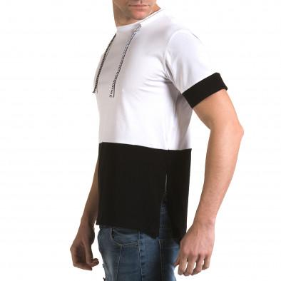 Ανδρική λευκή κοντομάνικη μπλούζα Man it090216-70 4