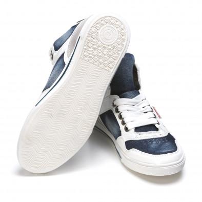 Ανδρικά γαλάζια sneakers Staka It050216-16 4